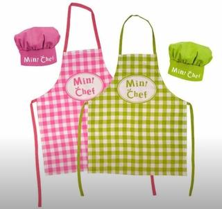 Mini Chef Delantal De Cocina+gorra De Chef Cocineritos Niños