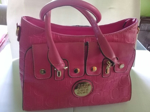 Cartera Bolso Carolina Herrera Color Fucsia.