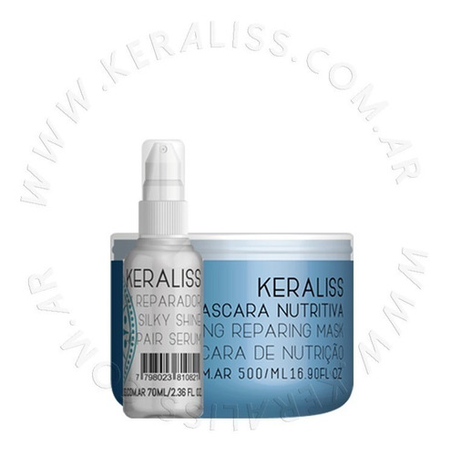 Keraliss Mascara Nutritiva + Serum Reparador + Ziploc