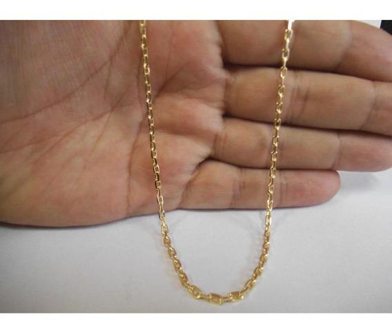 Corrente Ouro 18k Masculina Maciça Cadeado 60cm 9grs