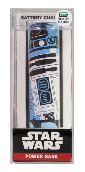 Bateria Externa Portatil R2d2 2600 Mah Star Wars Tribe