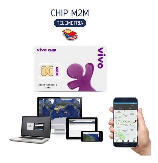 Chip Vivo M2m Rastreador Gps + Plataforma Online 24h