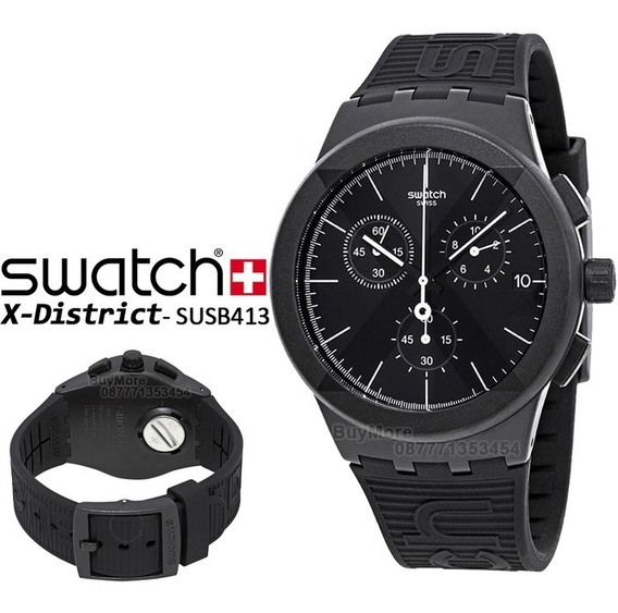 Relógio Swatch Masculino Preto X-district Black