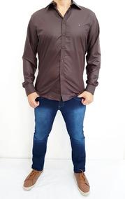 Kit 4 Camisa Social Masculina Slim Fit