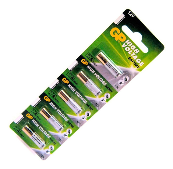 Bateria Pilha 27a 12v Cartela C/ 5 Alcalina Portão Alarme