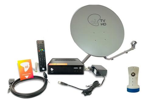 Receptor Oi Tv Antena Ku 60cm Logo Oi Com Lnbf