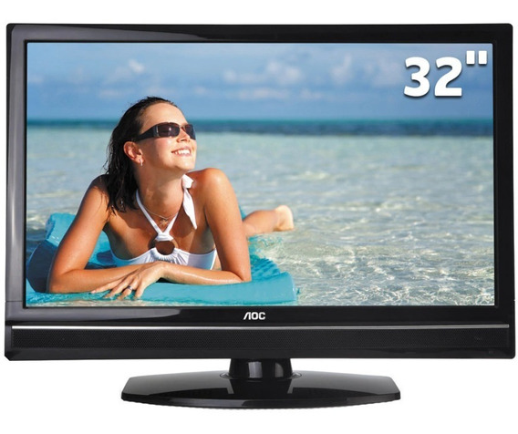 Tv Aoc 32 Lcd Hd :: 4 Meses De Uso :: Novíssima