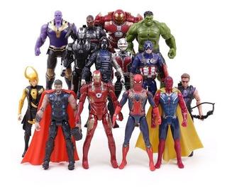 Muñeco Articulado Iron Spider Man Thor Hulk Infinity War