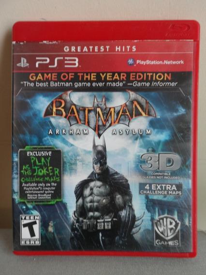Batman Arkham Asylum Game Of The Year Edition Ps3