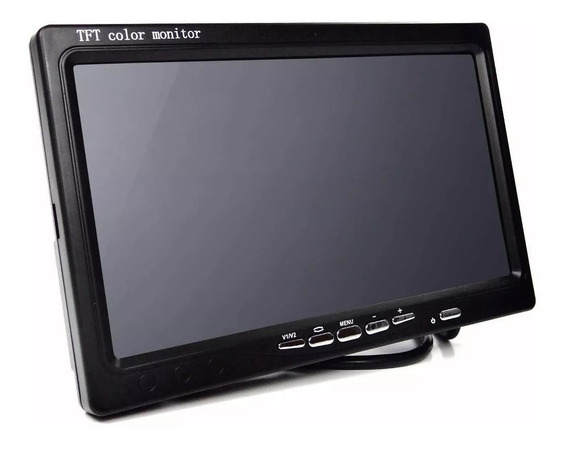 Tela Monitor 7 Pol P/ Camera Ré Dvd P/ 2 Cameras Carro Nf-e