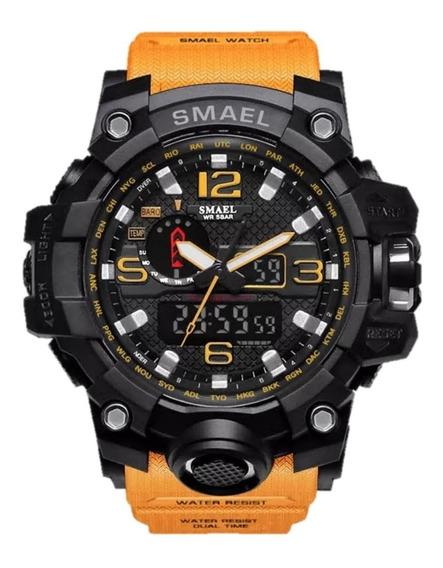 Relógio Masculino Smael 1545 Esportivo 12x S/juros Original