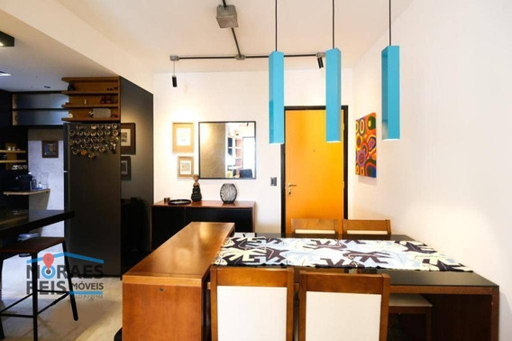 Apartamento Com 60m2,1 Dormitório 1 Banheiro, Sala De Tv. Varanda. Totalmente Equipado: Ofurô, Ducha Dupla,ar Condicionado, Maquina De Lavar-loucas, - Ap15272