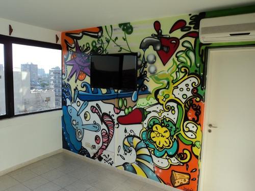 Arte Murales Graffiti Letrista Logos Realismo 3d Perpectiva