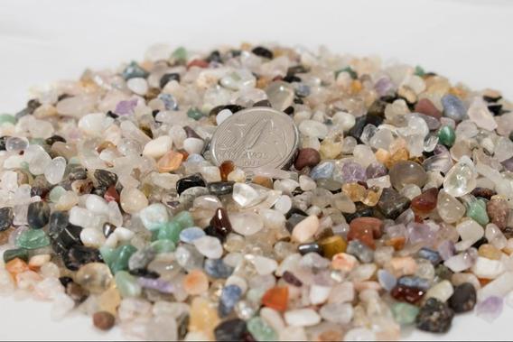 Pedras Mistas Roladas Cascalho 1kg Pequenas Orgonite