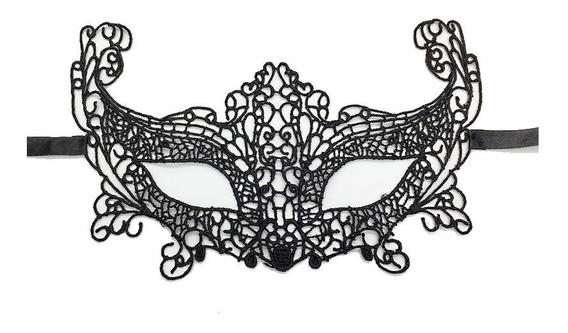 Máscara Feminina Renda Anastasia 50 Tons Veneziana Baile