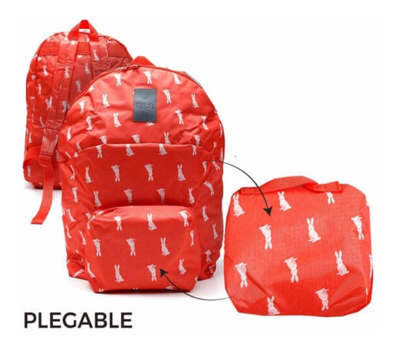Mochila Plegable Travel Tech- Conejitos