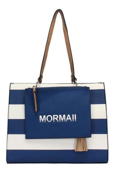 Bolsa Satchel Navy 2 Em 1 Mormaii - 230017 - Azul E Branco