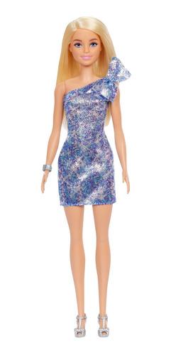 Imagen 1 de 6 de Barbie Fashionista, Muñeca Vestido De Noche Azul