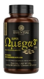 Super Ômega 3 Tg 1000mg - 180 Cápsulas - Essential Nutrition