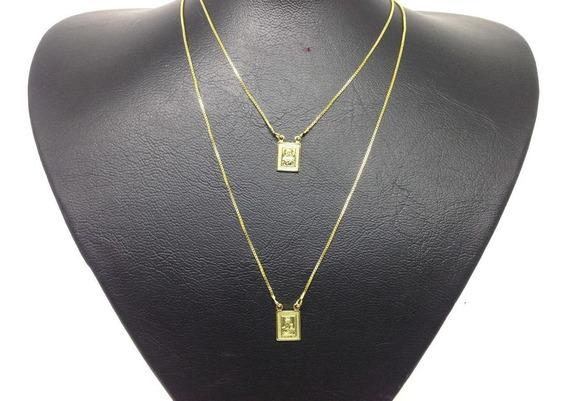 Escapulario Folheado Ouro 18k 70cm Veneziana