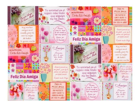 Tarjetas Minipostales X200 Día Del Amigo Amiga Amistad