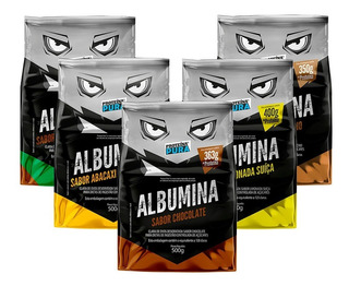 5x Albumina 500g Zero Carbo Proteína Pura 7 Sabores