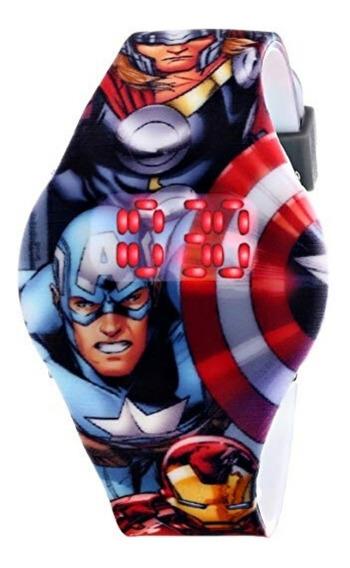 Reloj Avengers Marca Marvel Para Niños 2 Modelos A Elegir