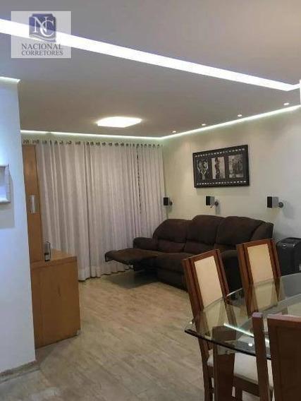 Apartamento Com 2 Dormitórios À Venda, 75 M² Por R$ 480.000,00 - Vila Camilópolis - Santo André/sp - Ap10717