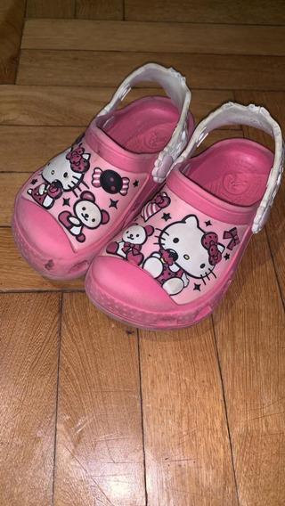 Crocs Niña Hello Kitty Talle 8-9