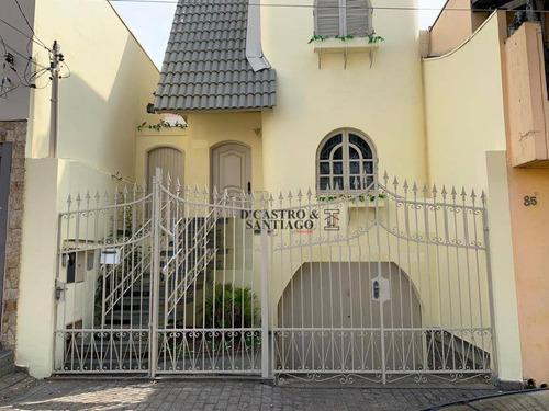 Sobrado Com 3 Dormitórios, 300 M² - Venda Por R$ 1.200.000,00 Ou Aluguel Por R$ 4.000,00/mês - Mooca (zona Leste) - São Paulo/sp - So0237