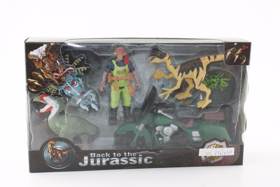 Dinosaurios 3 Figuras Playset 2 Con Accesorios En Caja