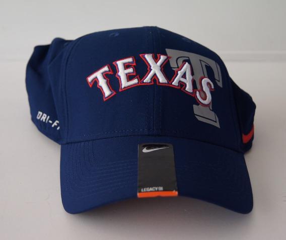 Nike Gorra Color Azul Obscuro Talla L-xl - Texas Rangers