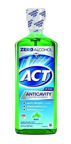 Imagen 1 de 5 de Enjuage Buscal Anticaries Act Sabor A Menta Sin Alcohol 18 O