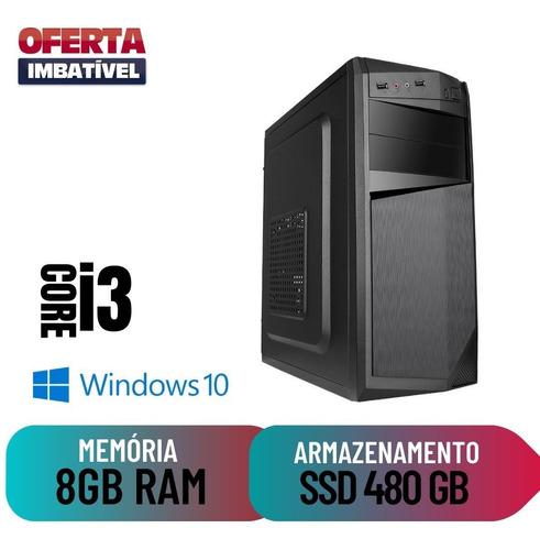 Star Pc Computador Desktop Cpu Intel Core I3 8gb 480gb Win10
