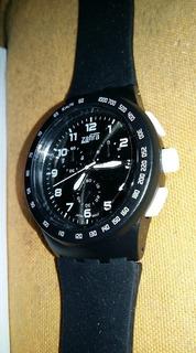 Reloj Hombre Deportivo Malla Silicona Analogico Z.652 Negro