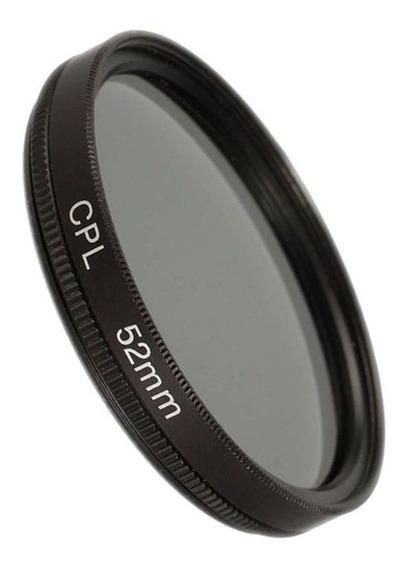 Filtro Cpl Polarizador Lente Dslr - Nikon Canon Sony - 52mm