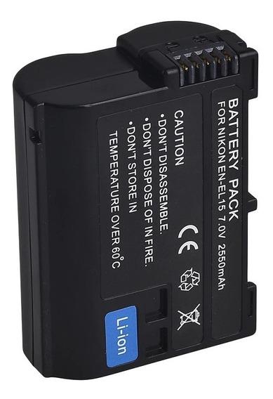 Bateria P/ Nikon En-el15 Enel15 D7000 D810 D7100 D7200 D750