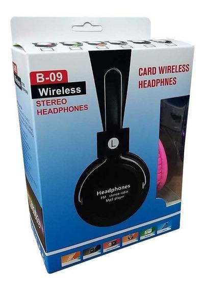 Fone Headset Sem Fio Bluetooth Cartão Rádio Fm Mp3 Stereo
