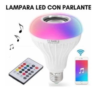 Lampara Led Rgb Con Parlante Bluetooth Inova Ry 1 Rosada