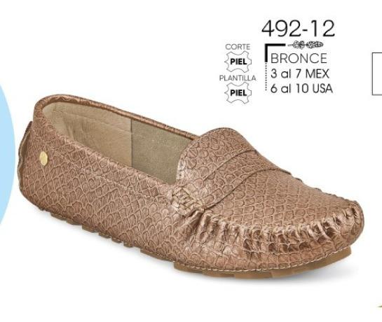 Zapato Dama Bronce Mod. 492-12 Oi 2019