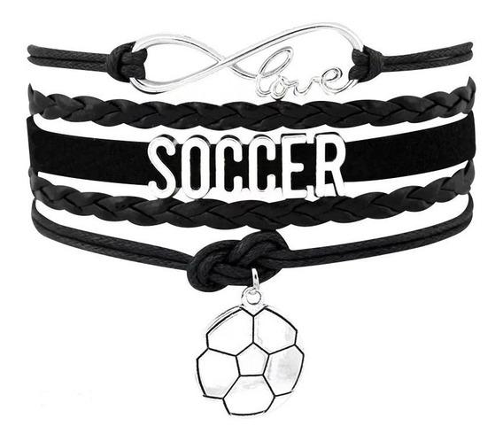 Pulsera De Moda Futbol Soccer, Unisex Amante Del Deporte