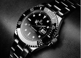 Relógio Preto De Aço Rolex Oyster Perpetual Submarine