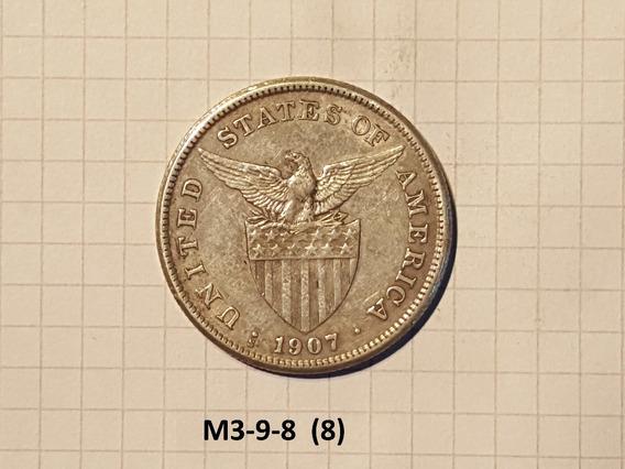 Filipinas 1 Peso Plata 1907 20 Gr Muy Linda