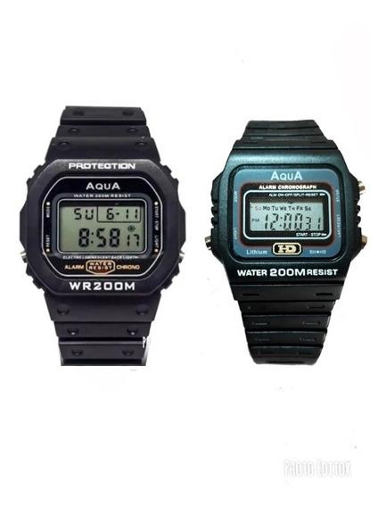 2 Relógios Masculino Esportivo Digital Barato Prova D