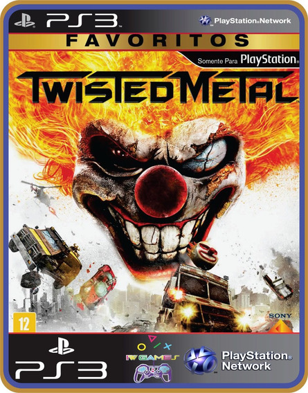 Jogo Ps3 Twisted Metal Psn Play 3 Mídia Digital