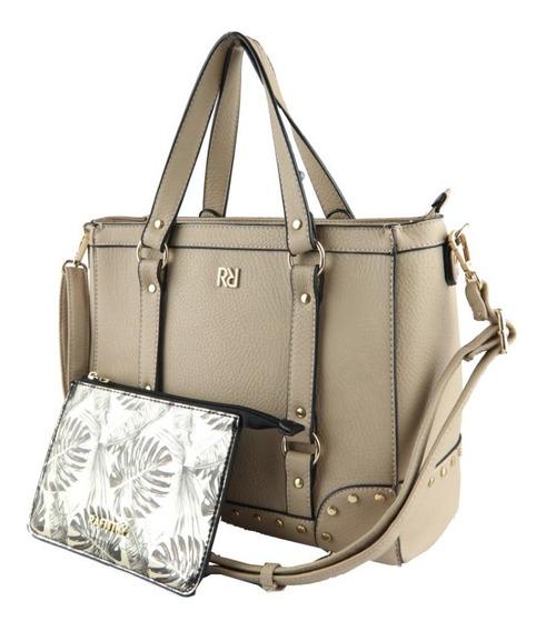 Bolsa Rafitthy New Fendi/gold Grande Feminina Transversal