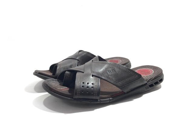 Pegada 131777 Chinela Cuero Cómoda El Mercado De Zapatos!!