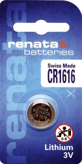 Bateria Renata Cr1616 Lithium 3v   Cart Com 01 Pilha