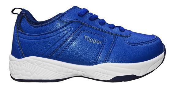 Zapatillas Topper Tenis Urbana Niño Atlas Original Azul
