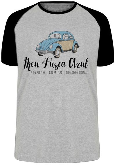 Camiseta Luxo Meu Fusca Azul Carro Volkswagen Fuca Antigo